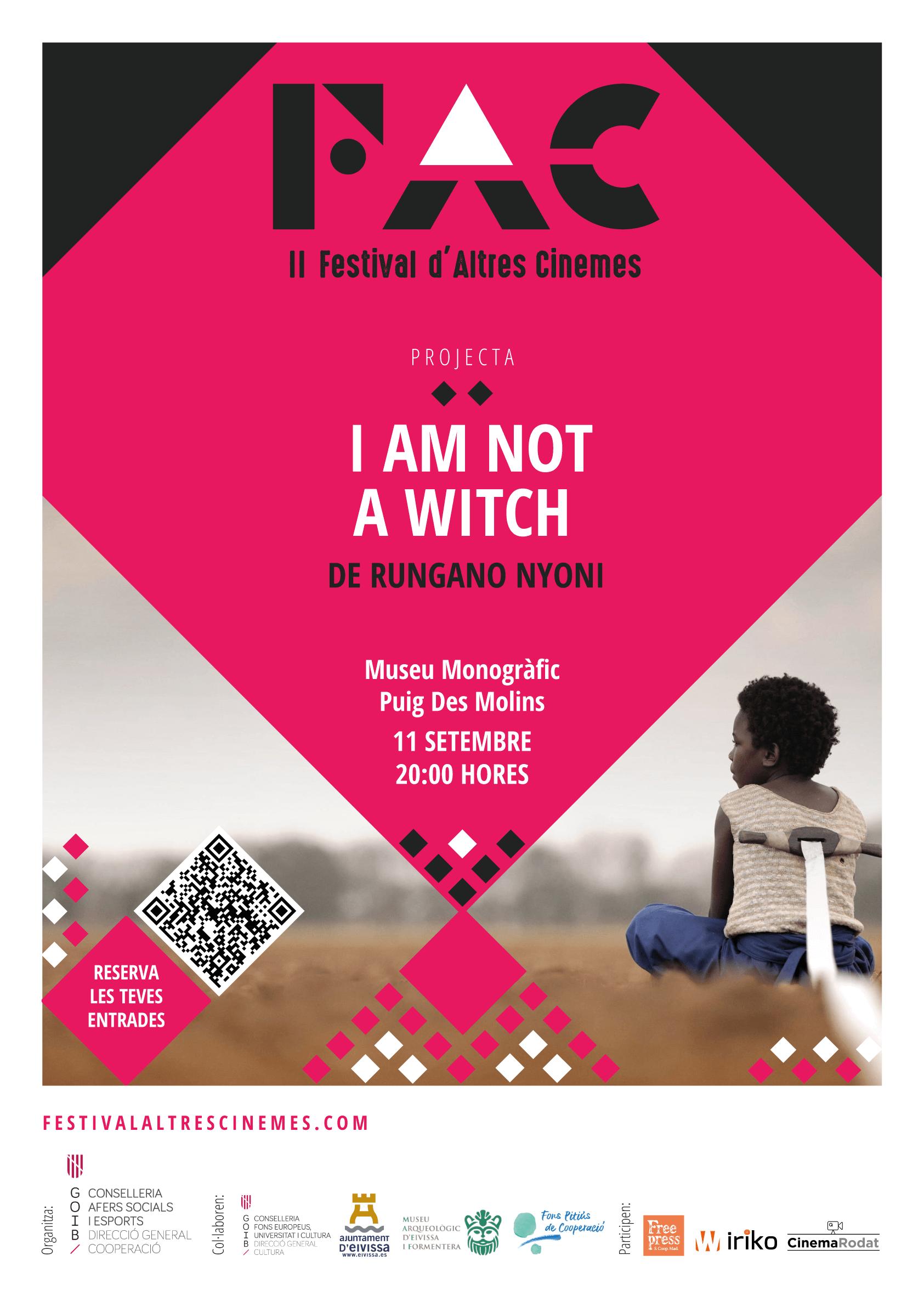 """Projecció de la pel·lícula """"I am not a witch"""", dins el FAC (Festival d'Altres Cinemes)"""