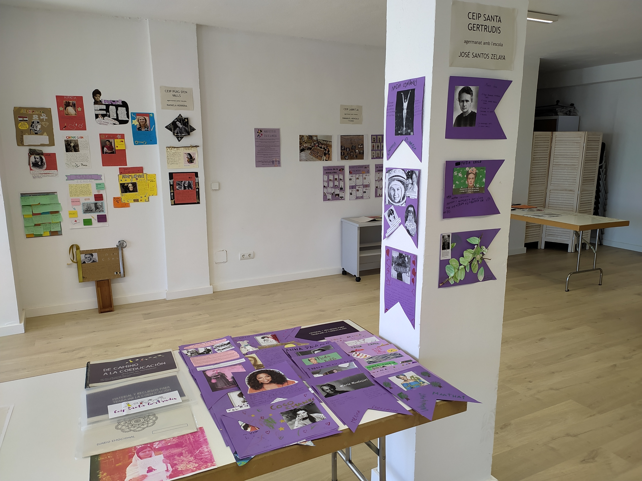Exposició dels treballs sobre igualtat de gènere
