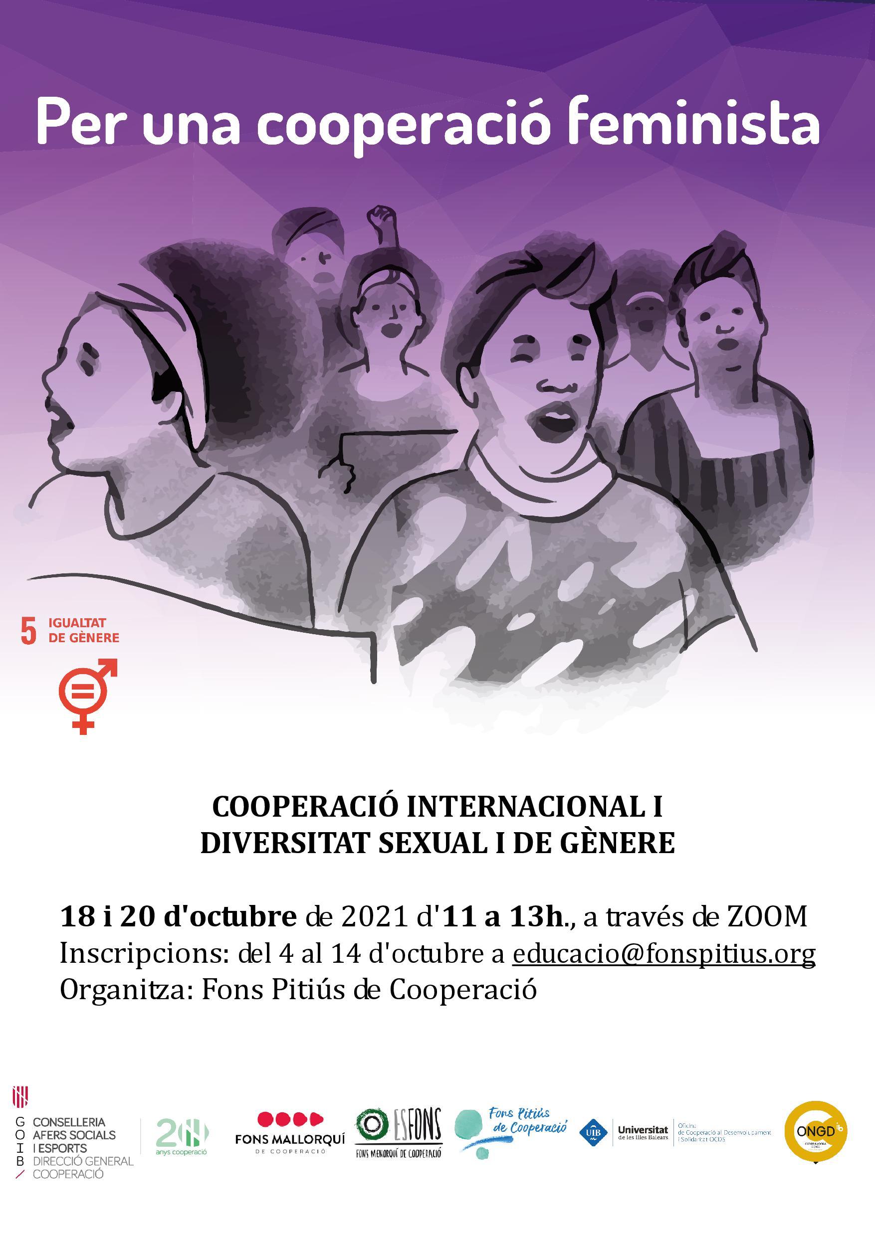 Formació on-line: Cooperació internacional i diversitat sexual i de gènere