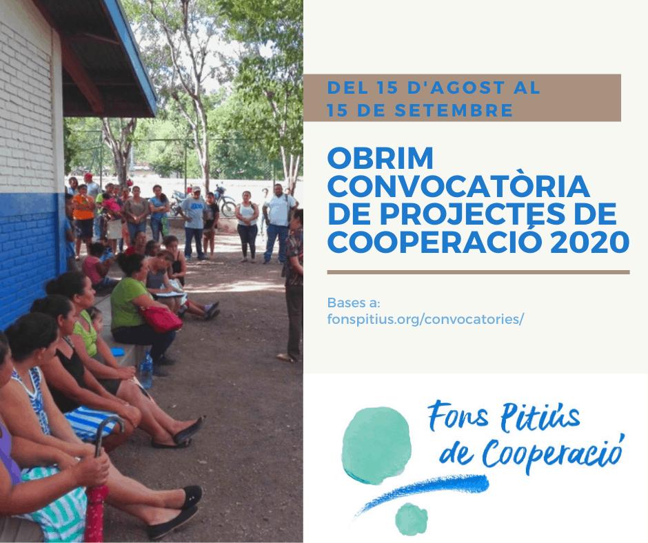 Convocatoria de proyectos de cooperación 2020