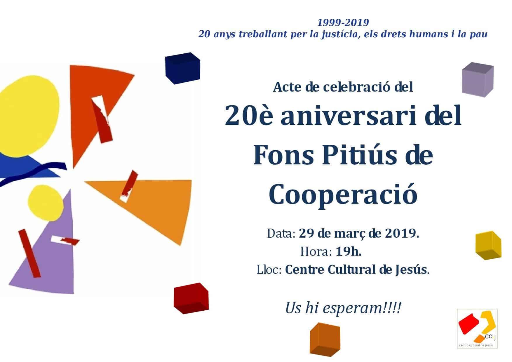 Celebración del 20º aniversario del Fons Pitiús de Cooperació